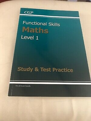 Functional Skills Maths Level 1 - Study and Test Practice by CGP Books...
