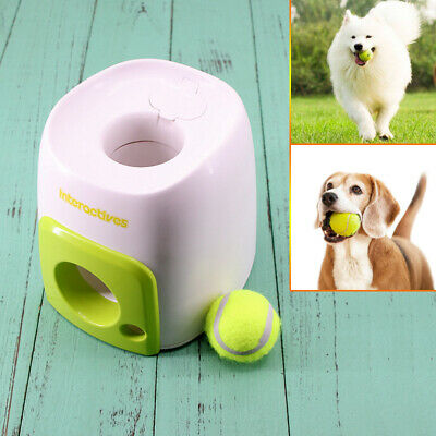 Automatic Pet Dog Tennis Ball Toy Interactive Fetch Chucker Thrower Training Toy