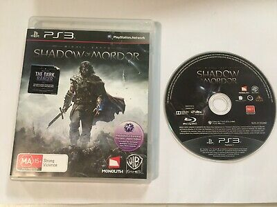 Middle-Earth Shadow Of Mordor - Ps3 Playstation 3 - Disc Vgc - Free Post