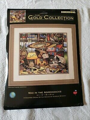 Dimensions Gold Collection Max In The Adirondacks  Cross stitch Kit