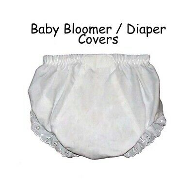 Baby Diaper Covers Bloomers Embroidery Blank - White - Pick Size