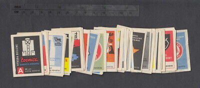 Series of Old Czechoslovakian Unofficial Matchbox Labels