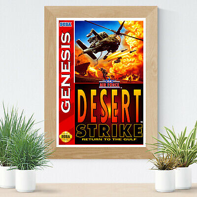 Sega Mega Drive Desert Strike Gaming Teen Glossy Print Wall Art A4 Poster Decor
