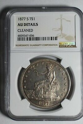 1877 S Trade Silver Dollar AU Details #06 NGC