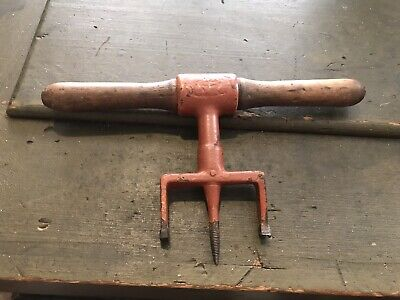 """Antique Coopers Bung Boring Auger Bit Barrel Making Tool Nice! 3"""" Hole"""