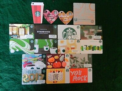 Hugh Lot Of Twenty-Five (25) Different Collectible Only *Starbucks* Gift Cards