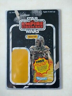 Star Wars Empire strikes back vintage Kenner Boba Fett 21b card back VGC