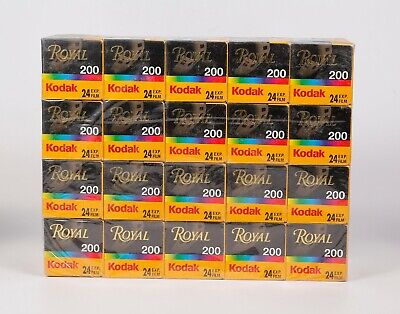 Pack of 20 Kodak ROYAL 200 24 Exp. Color 35mm Film, Expired 07.2004