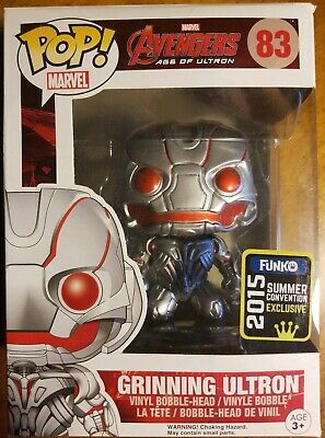 Funko Pop! Marvel #83 Avengers Age of Ultron Grinning Ultron 2015 SDCC Exclusive