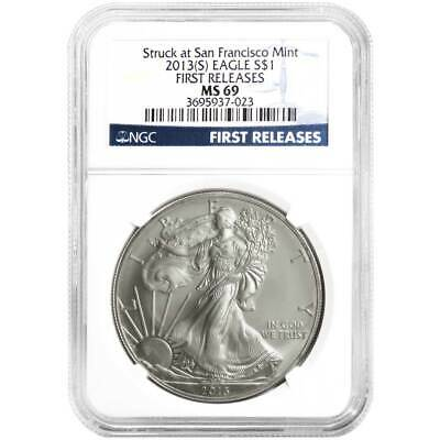 2013 (S) $1 American Silver Eagle NGC MS69 FR