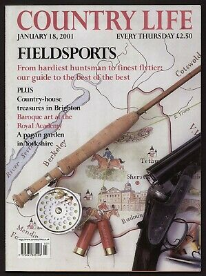 Country Life Jan 2001 BEDFONT HOUSE BRIGHTON FIELDSPORTS BAROQUE IN ROME