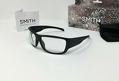 Smith® FRONTMAN ELITE Matte Black Tactical SAFETY GLASSES, Clear BALLISTIC Lens