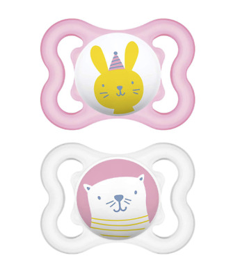 MAM Sensitive Skin Pacifiers, Baby Pacifier 0-6 Months, 2-Count