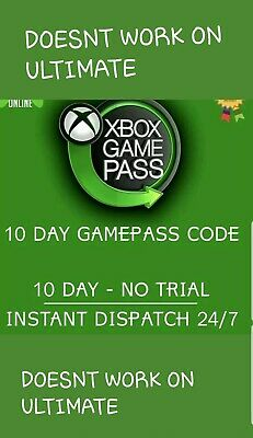 Xbox Game Pass 10 Day Subscription (NOT A TRIAL CODE)