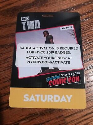 Activated NYCC New York Comic Con 2019 Saturday Pass Badge Ticket