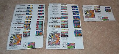 PETER MAX WFUNA FDCS EARTH SUMMIT JUNE 1992 pop art very rare 22 ORIGINAL
