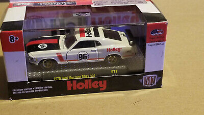 M2 Machines O'reilly Exclusive Holley White 1970 Ford Mustang Boss 302  1/64