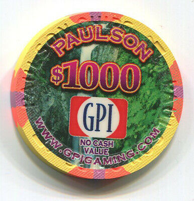 Paulson GPI Manufacturer Sample $1000 No Cash Value Casino Chip