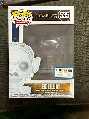 Funko Pop! Clear Gollum Barnes and Noble Lord of the Rings #535 Pop Box Damage