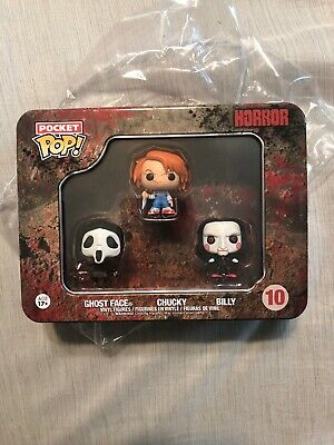 Funko Pocket Pop! Horror 3 Pack Ghost Face, Chucky & Billy 10 Vinyl Figure Lot