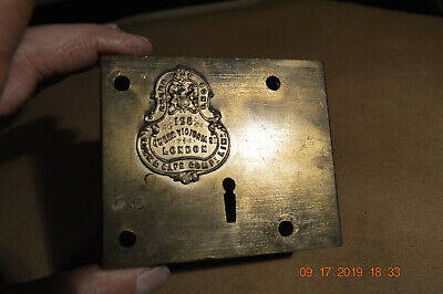 Very Old London Lock * Chubb  & Sons  128 Queen Victoria St.  Lock & Safe Co.