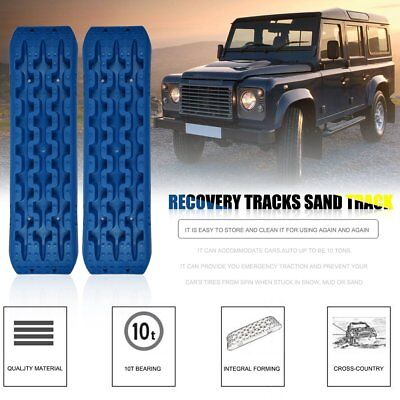 Pair 10T Recovery Tracks 4x4 Off Road 4WD Sand Track Snow Mud Tyre Ladder NL
