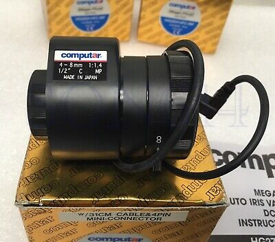 1x COMPUTAR HG2Z0414FC-MP CCTV Camera Lens 4-8mm 1/2'' F1.4 DC Auto Iris C-Mount