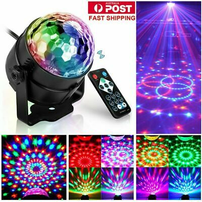 Sound Active RGB LED Stage Light Crystal Ball Disco Club DJ Party W/ Remote DM