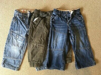 Boys Trousers x 3 - Country Road, Gap, Pumpkin Patch Size 2