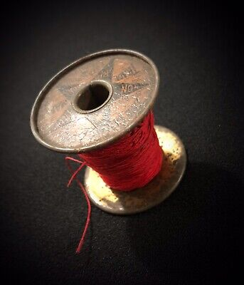 Rare Antique Spool - The Webster Star Brand Non Filling Ribbons Circa 1890s