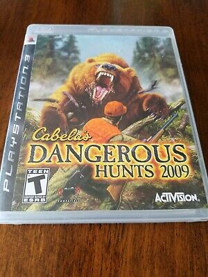 Cabela's Dangerous Hunts 2009 (Sony PlayStation 3, 2008) VGC no disc scratches