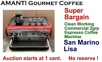 SUPER BARGAIN Clean Working Red 2grp Commercial Espresso Coffee Machine + AMANTI