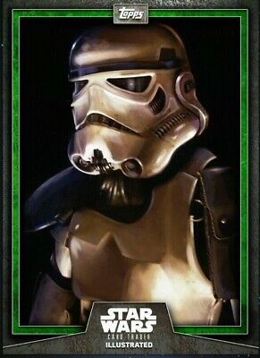Topps Star Wars Card Trader Illustrated Digital 2019 Stormtrooper Green CTI