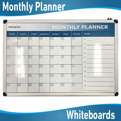 Monthly Weekly Planner Organiser Magnetic Whiteboard Whiteboards White Boards