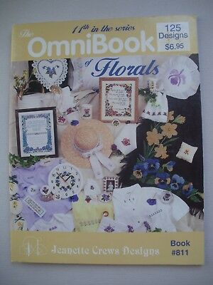 The OmniBook of Florals - Jeanette Crews - Cross Stitch Book - 125 Designs