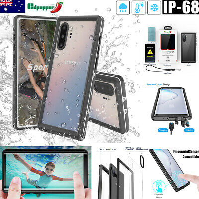 For Samsung Galaxy Note 10+ Plus S10+ Plus Waterproof Snow Dirt Proof Case Cover