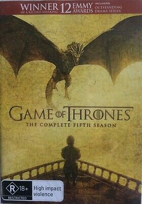 NEW SEALED Game Of Thrones: Season 5 Fifth (DVD, 2016 - 5 DISC SET) FREE POSTAGE