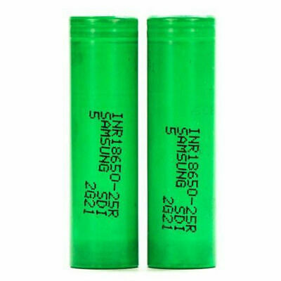 2 For Samsung 18650 25R 2500mAh 20A High Drain Rechargeable Battery