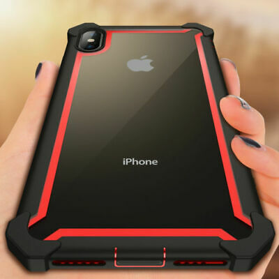 For iPhone 11/11 Pro Max XR Clear Heavy Duty Shockproof Rubber Case Bumper Cover