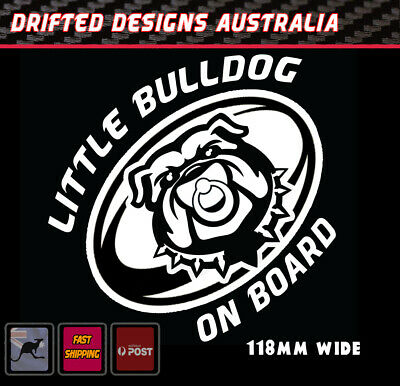 Little Bulldog On Board - baby on Board White NRL Decal