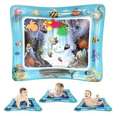Sea World Baby Water Play Mat Inflatable For Infants Toddlers Fun Tummy Time AU