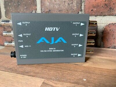 HDTV AJA GEN 10 HD/SD Sync Generator Component for Professional Camcorders 1080p