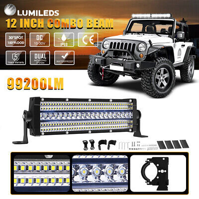 3.5X12inch LED Light Bar 5 Rows LED CHIPS Spot Flood Combo For Driving Offroad