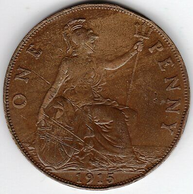 1915 One Penny King George V Very Fine condition. A nice Collectible Coin