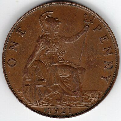 1921 One Penny King George V Near Extremely Fine condition.