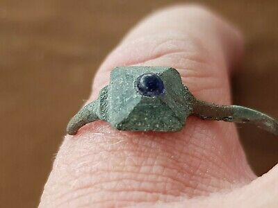 Stunning very rare Roman ladies bronze ring part. Please read description. L34b