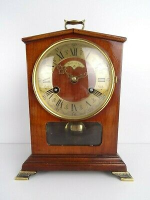 Dutch Warmink Vintage Antique Mantel Shelf 8 day Clock (Hermle Junghans era)