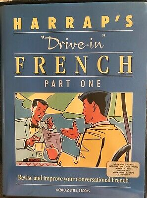 """Harrap's """"Drive-in"""" FRENCH Part One Books & Tape Cassettes Vintage Learning"""