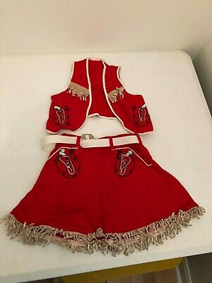 Very Old Childs  Vintage Cowgirl Halloween Cosplay Costume