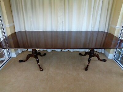 Large William Tillman Extending Mahogany Dining Table Antique Style